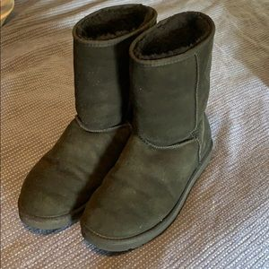 Uggs Black Suede Classic Boot - Size 10